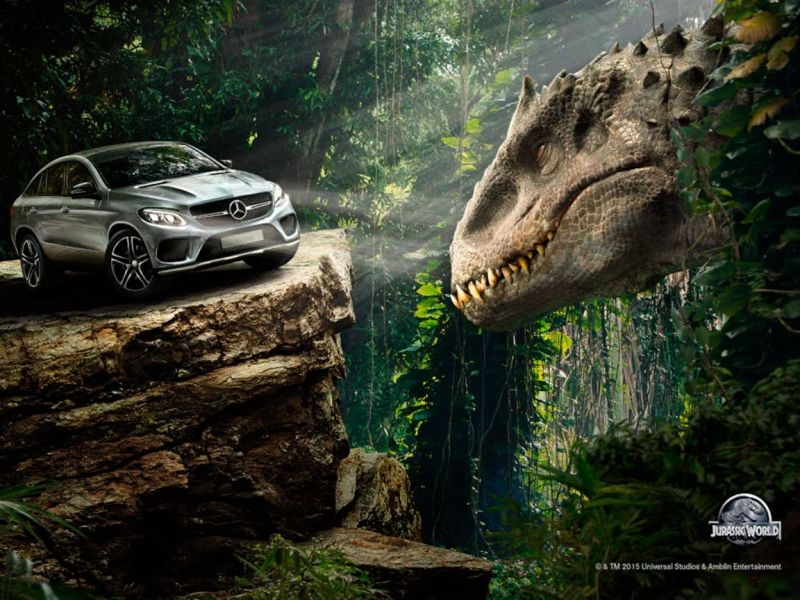 Mercedes-Benz: los autos de Jurassic World